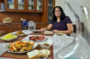 Bridget White, an expert in Anglo Indian cuisine. Express photo by JITHENDRA M.