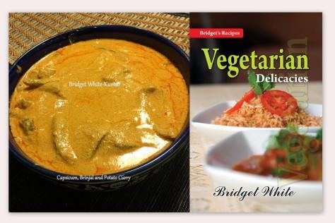 Capsicum, Brinjal and Potato Curry