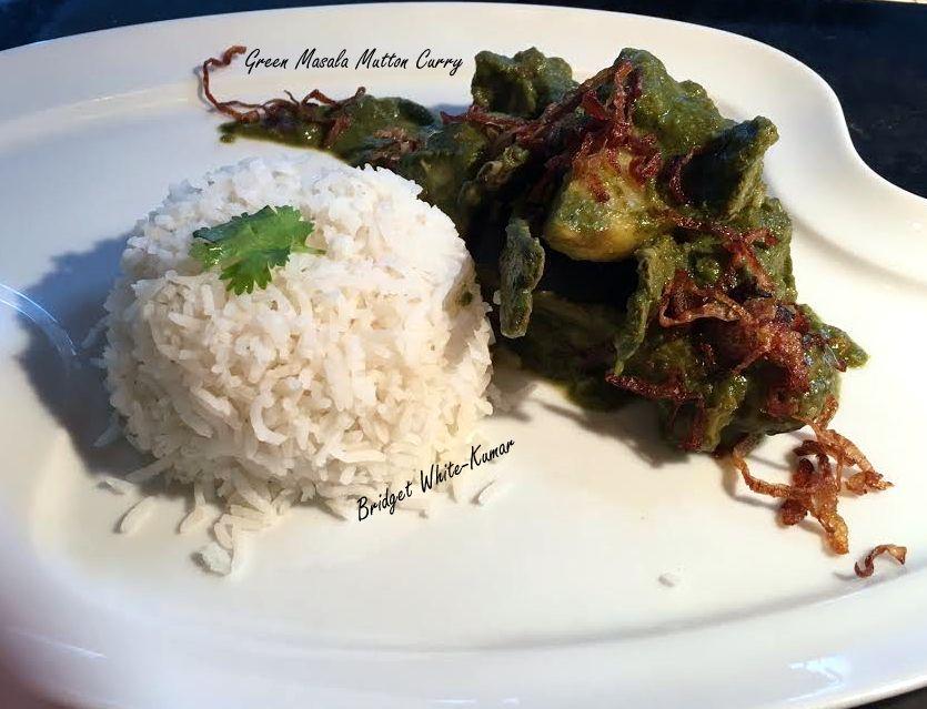 Green Masala Mutton Curry