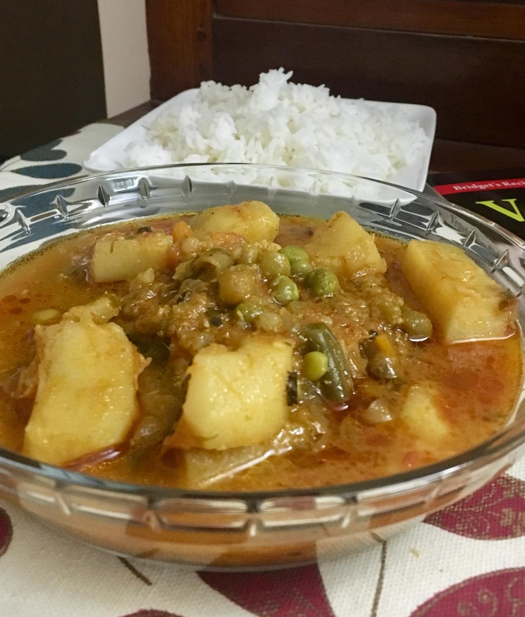 Vegetable curry 4