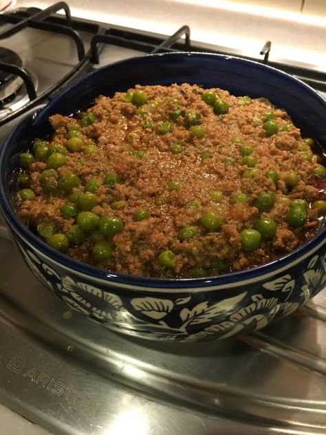 Beef Mince and peas 1