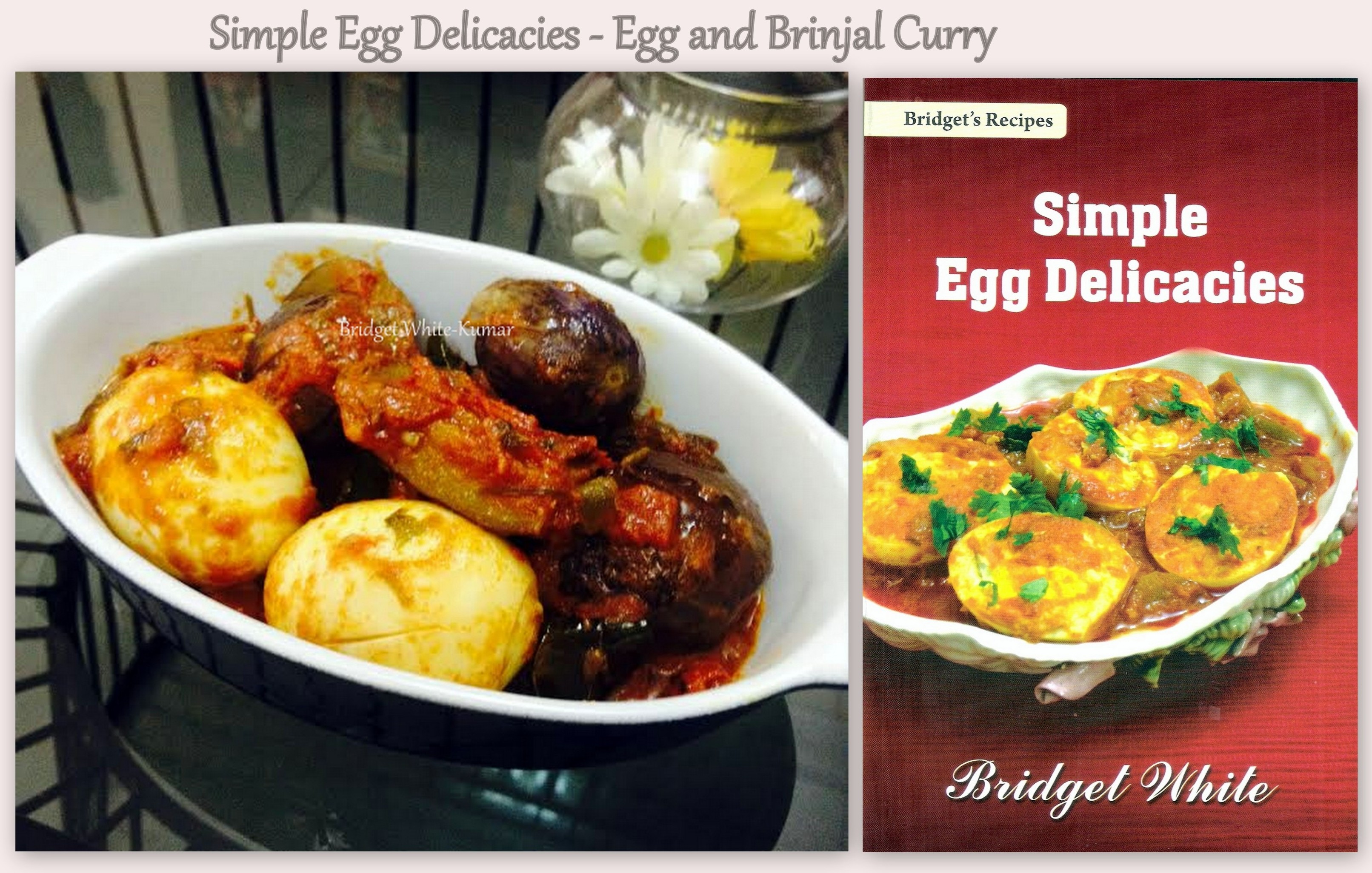 Egg and Brinjal with recipe book 1